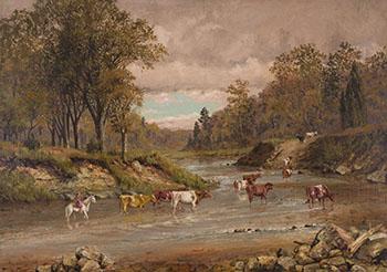 Stream with Cattle par Thomas Mower Martin