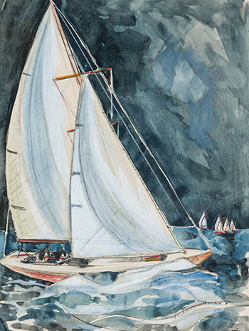 Sail Boat, Bay of Fundy by Fritz Brandtner