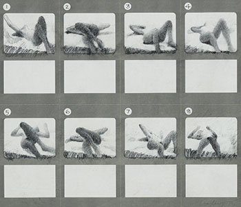 Storyboard for Reclining Figure Moving by John Graham Coughtry