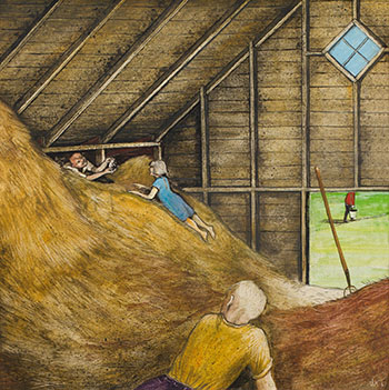 Finding Kittens in the Hayloft (from Memories of a Manitoba Childhood) by William Kurelek