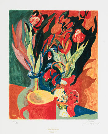 Les tulipes by Alfred Pellan