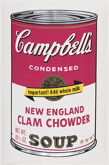 Campbell's Soup II, New England Clam Chowder (F.&S. II.57) par Andy Warhol