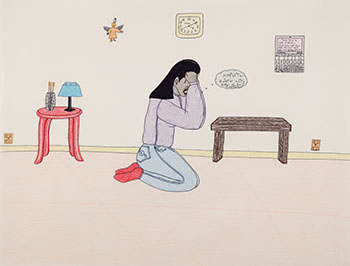 Crying by Annie Pootoogook