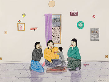 Family and Baby by Annie Pootoogook