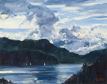 The Thunderhead over Bowen Island by Daniel Izzard