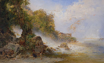 Playing at the Falls by Otto Reinhold Jacobi