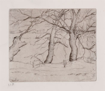 Trees in Winter, State VII by Lionel Lemoine FitzGerald
