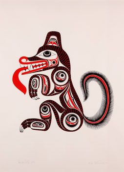 Haida Wolf by William Ronald (Bill) Reid