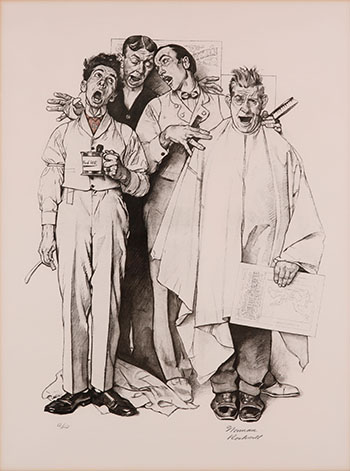 Barbershop Quartet by Norman Rockwell