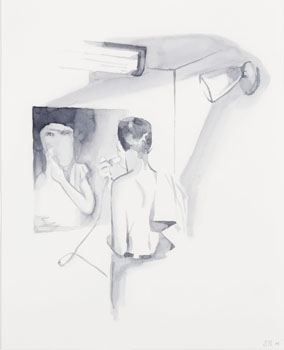 Untitled (Man Shaving) by Derek Root