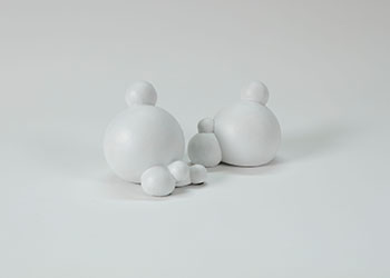 Snowballs (pair) by Holly Ward