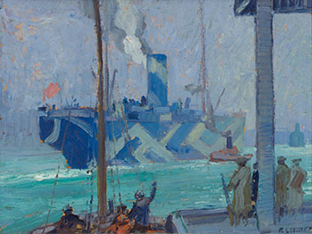 The Departure of the Troop Ship, Halifax by Arthur Lismer