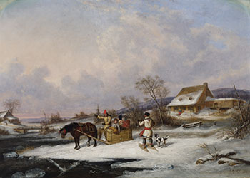 Quebec Farm by Cornelius David Krieghoff