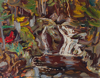 Waterfall, Mile 110, Algoma Central Rwy. by Alexander Young (A.Y.) Jackson