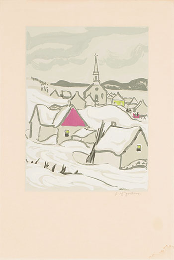 Quebec Village in Winter by Alexander Young (A.Y.) Jackson