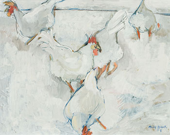 Chickens in the Snow by Molly Joan Lamb Bobak