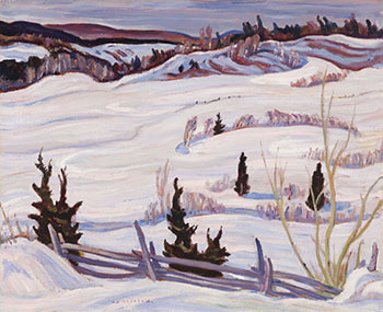 Winter Landscape, Quebec by Alexander Young (A.Y.) Jackson