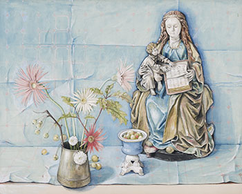 Madonna and Child with Flowers by William Kurelek