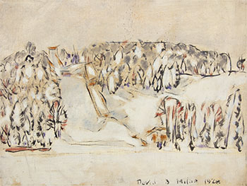 Ski-Jump After Snow by David Brown Milne