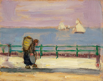 The Mussel Gatherer, Dieppe (The Surf, Dieppe) by James Wilson Morrice