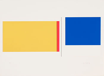 Yellow, Red & Blue by Illya Bolotowsky