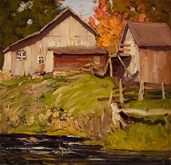 Farm Buildings Near Stream by Lawren Stewart Harris