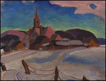 St. Francois Village Church, Ile D'Orleans by Andre Charles Bieler