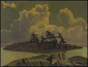 As the Fog Lifted, Georgian Bay by Charles Fraser Comfort