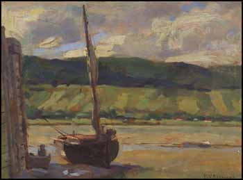 Sailboat at Low Tide by William Brymner