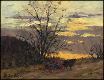 Horse and Wagon, Sunset by Berthe Des Clayes