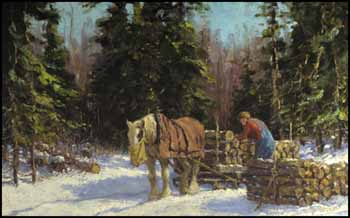 The Woodcutter ~ Horse and Sleigh by Frederick Simpson Coburn