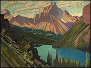 Lake O'Hara and Cathedral Mountain, Rockies by James Edward Hervey (J.E.H.) MacDonald