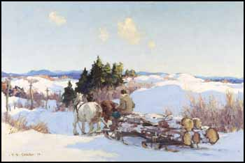 Logging Team on a Country Road by Frederick Simpson Coburn