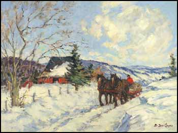 The Red Sleigh by Berthe Des Clayes