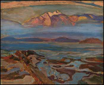 Misty Day, West Coast (North Shore from Point Grey, Vancouver) by Frederick Horsman Varley