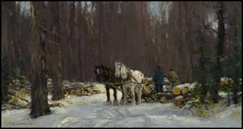 Loading Logs, Eastern Townships by Frederick Simpson Coburn