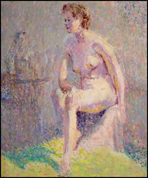 Seated Nude by William Henry Clapp