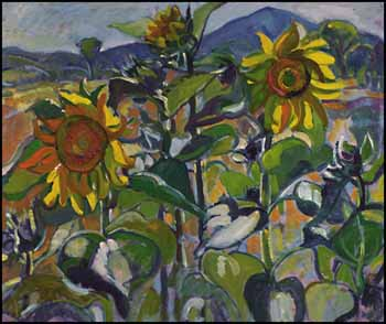 Sunflowers, Magog, PQ, Owl's Head Mountain by Nora Frances Elizabeth Collyer
