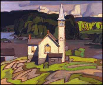 Anglican Church - Magnetawan by Alfred Joseph (A.J.) Casson