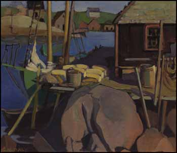 Fishing Village, Peggy's Cove by Kathleen Frances Daly Pepper