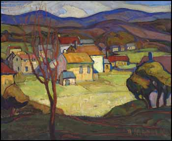 Village from the Hill by Henrietta Mabel May