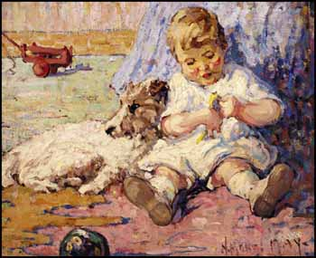 Child and Dog by Henrietta Mabel May