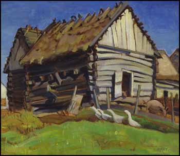 The Log Barn by Kathleen Frances Daly Pepper