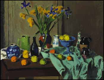 Still Life with Irises by William Goodridge Roberts