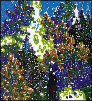Woman and Bright Trees, West Saugerties, NY by David Brown Milne