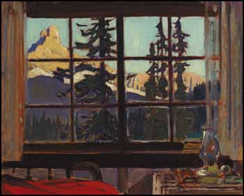 Morning, Mountain Camp (Cathedral Peak from O'Hara Camp) by James Edward Hervey (J.E.H.) MacDonald