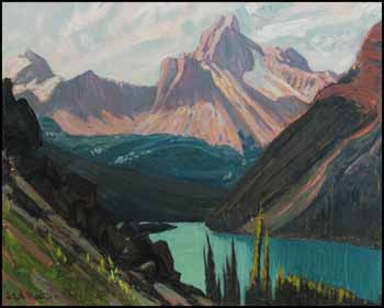 Study for Lake O'Hara and Cathedral Mountain, Rockies by James Edward Hervey (J.E.H.) MacDonald