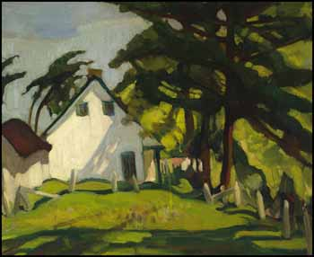 Cottage with Clothesline by Henrietta Mabel May