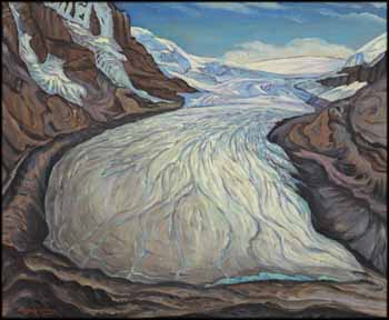 Athabasca Glacier, Columbia Ice Field, Alberta by James Williamson Galloway (Jock) Macdonald