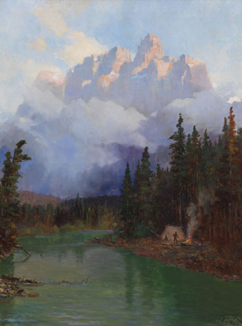 Morning Campfire Below Castle Mountain by Frederic Marlett Bell-Smith